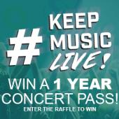KeepMusicLive 12 Month VIP concert pass
